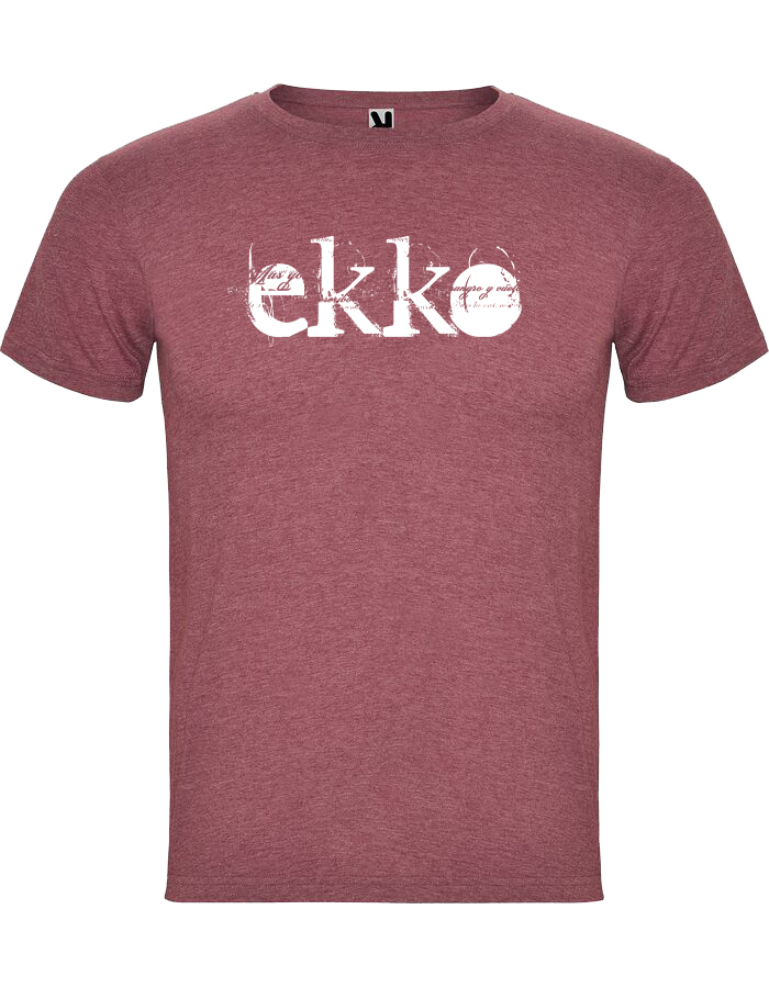 Camiseta Chico Jaspeada Roja Ekko
