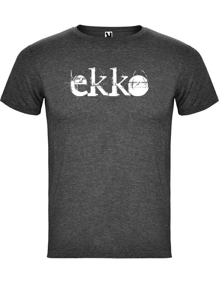 Camiseta Chico Jaspeada Negra Ekko