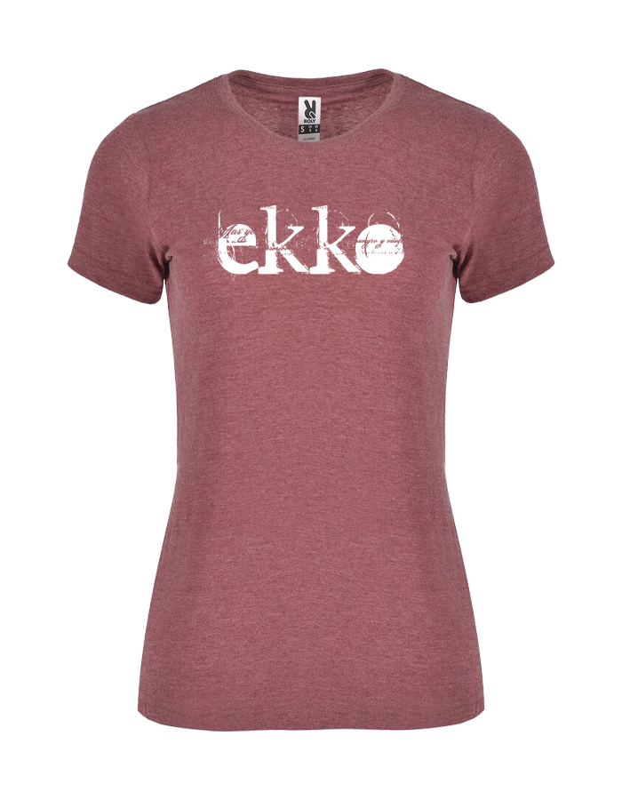 Camiseta Chica Jaspeada Roja Ekko
