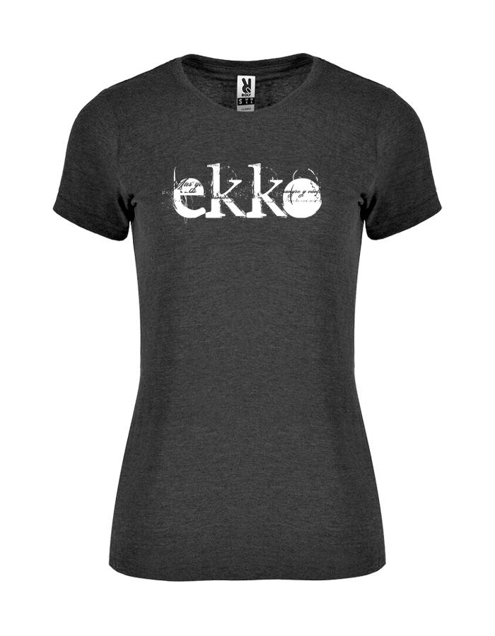 Camiseta Chica Jaspeada Negra Ekko